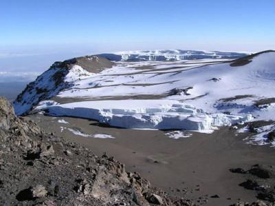 Glaciares en la cumbre del monte Kibo