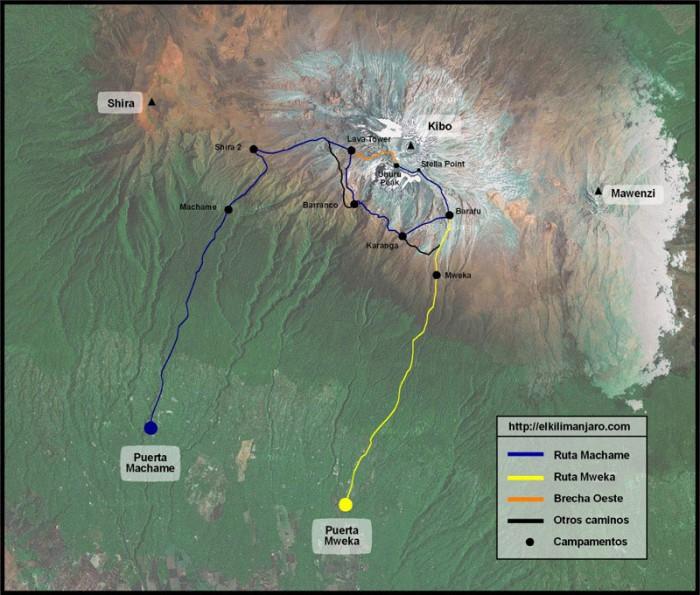 Ruta Machame de ascensión al Kilimanjaro