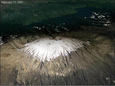Las nieves del Kilimanjaro en el año 1993