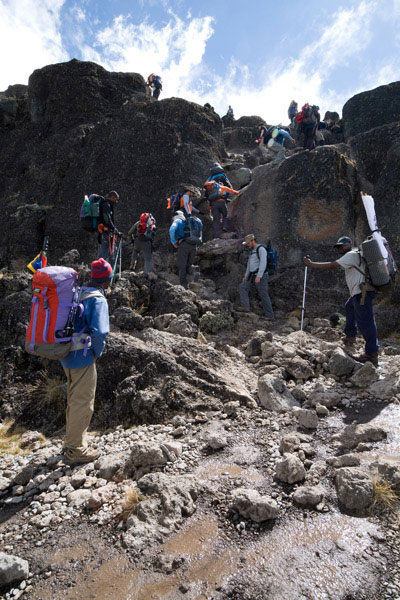 Barranco Wall en la ruta Machame